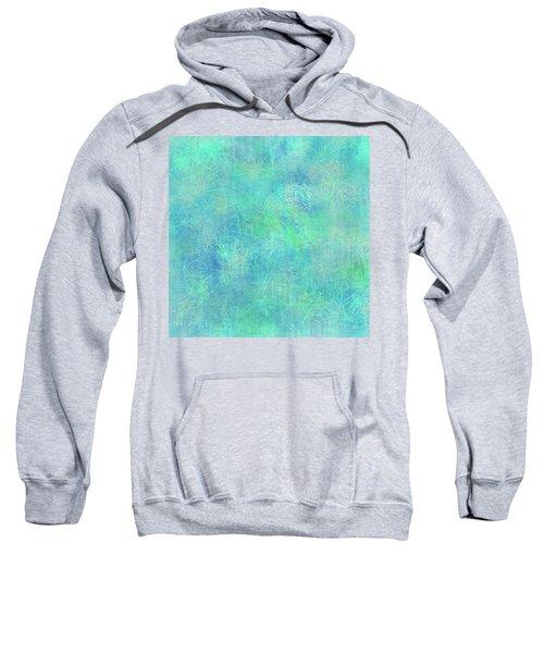 Aqua Batik Print Coordinate Sweatshirt