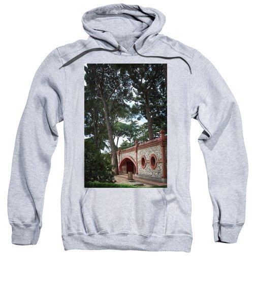 Architecture At The Gardens Of Cecilio Rodriguez In Retiro Park - Madrid, Spain Sweatshirt