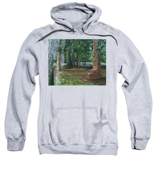 Ardoyne Ruins Near The Mansion, Houma, Louisiana Sweatshirt