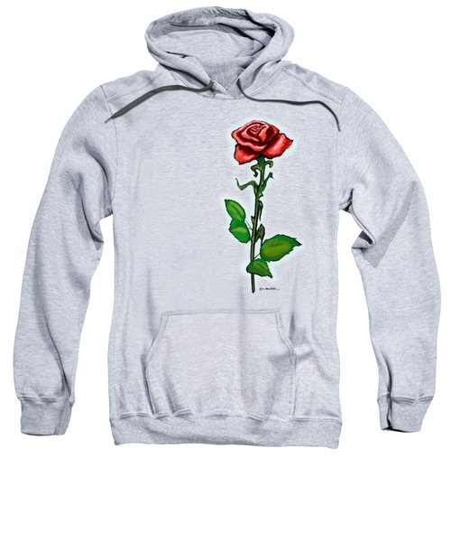 Single Red Rose Sweatshirt