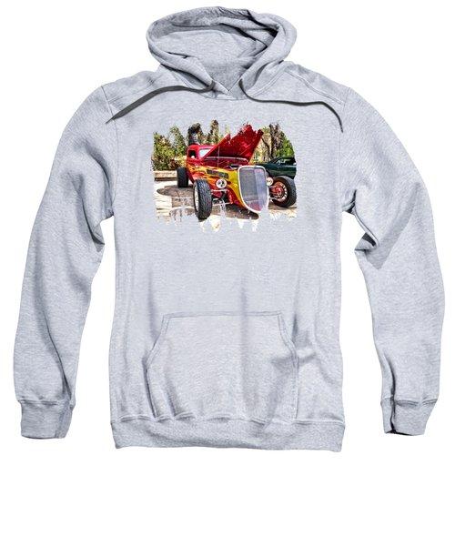 Red And Yellow  Sweatshirt