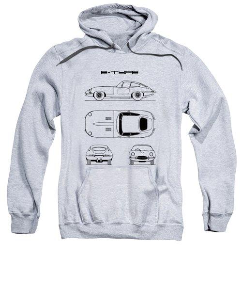 Jaguar E Type Blueprint Design Sweatshirt