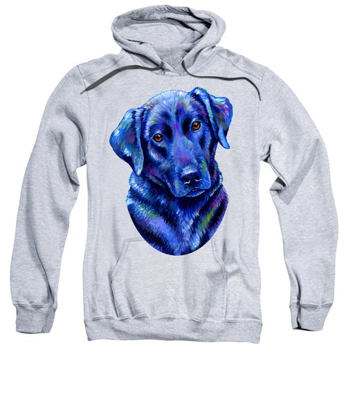 Colorful Black Labrador Retriever Dog Sweatshirt