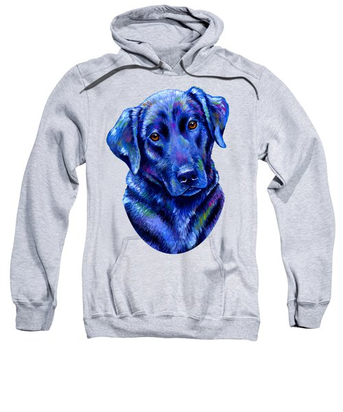 Colorful Black Labrador Retriever Dog Sweatshirt