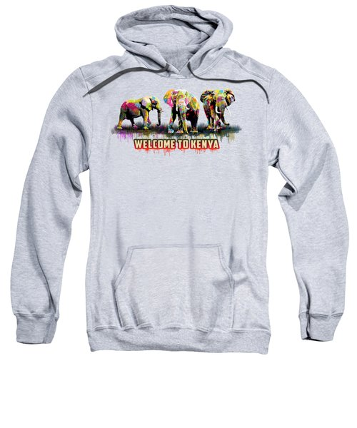 Three Elephants Sweatshirt