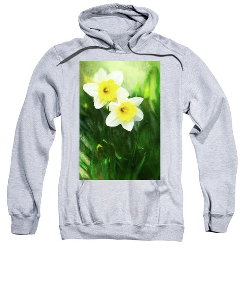 Lovely Painted Daffodil Pair Sweatshirt