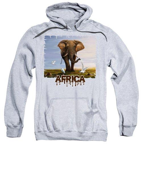 Elephant And Cattle Egrets Sweatshirt