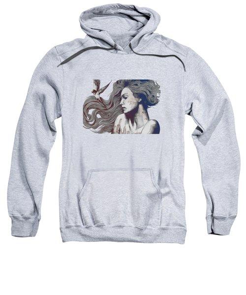 Monument - Red 'n Blue - Sleeping Beauty, Woman With Skyline Tattoo And Bird Sweatshirt