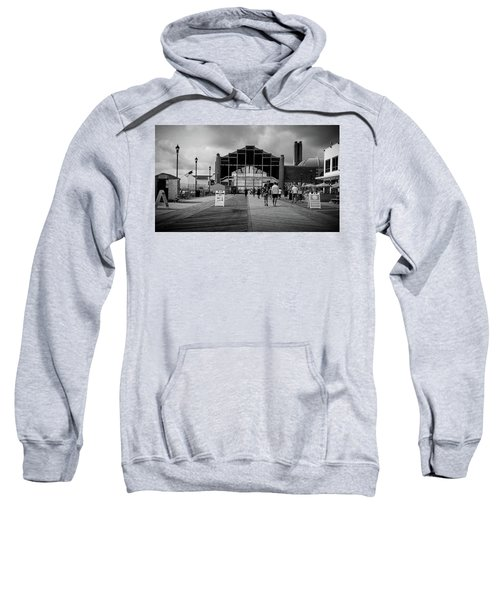 Sweatshirt featuring the photograph Asbury Park Boardwalk by Steve Stanger