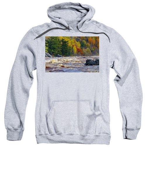 Autumn Colors And Rushing Rapids   Sweatshirt