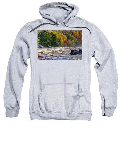 Autumn Colors And Rushing Rapids   Sweatshirt