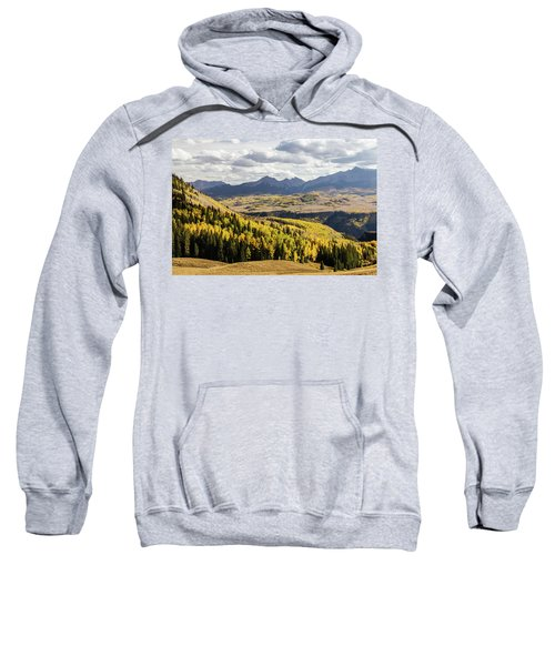 Sweatshirt featuring the photograph Autumn Season View Of Sneffles Ten Peak by James BO Insogna