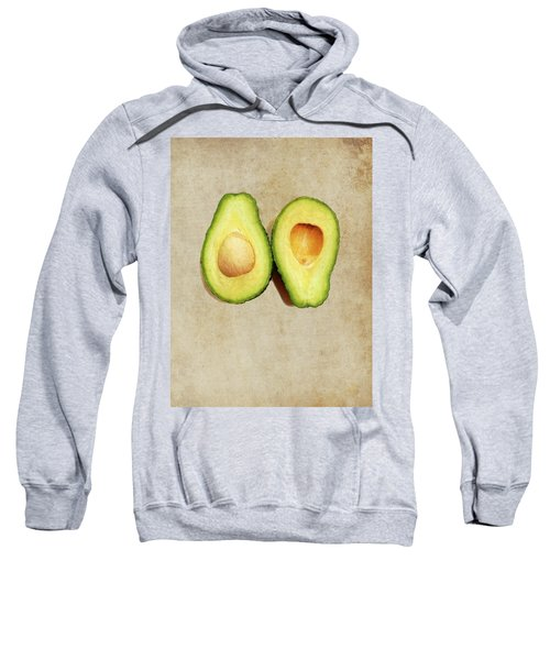 Avocado On Old Paper - Parchment Background Sweatshirt