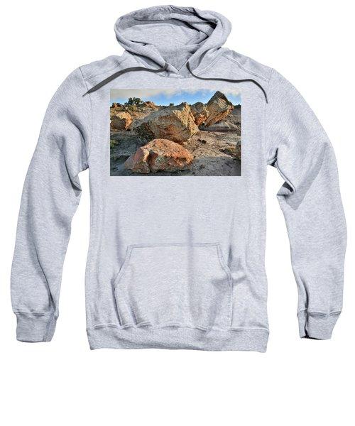 Balanced Rocks In Bentonite Site Sweatshirt