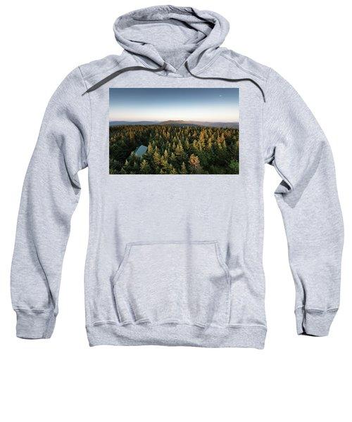 Balsam Lake Mountain Sunset Moon Sweatshirt