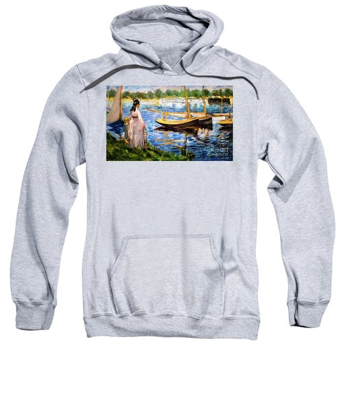 Banks Of The Seine At Argenteuil Sweatshirt