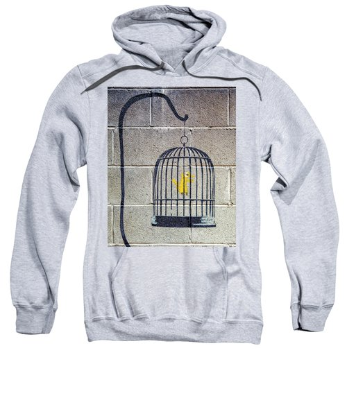 Banksy Bird Cage Detroit Sweatshirt
