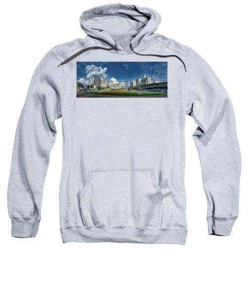 Bbt Baseball Charlotte Nc Knights Baseball Stadium And City Skyl Sweatshirt