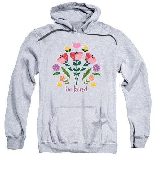 Be Kind Folk Art Bouquet Sweatshirt