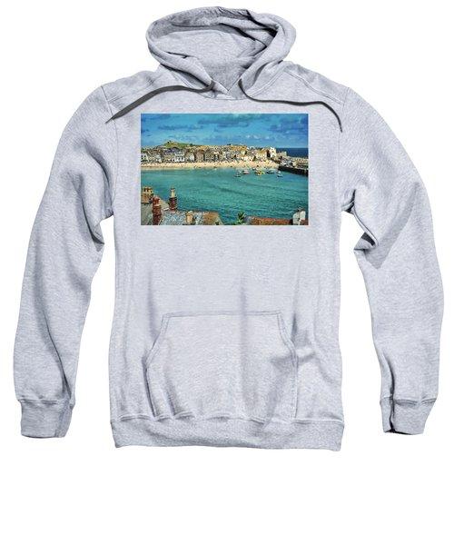 Beach From Across Bay St. Ives, Cornwall, England Sweatshirt