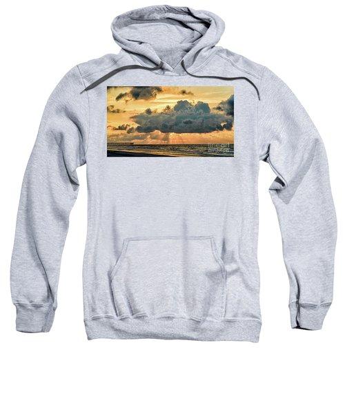 Beaming Through Sweatshirt