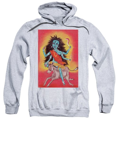 Beautiful Hindu Goddess Rendering Shree Kalaratri Devi. Navaratri. Day 7. Pastel Drawing. Sweatshirt