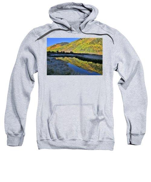 Beautiful Mirror Image On Crystal Lake Sweatshirt