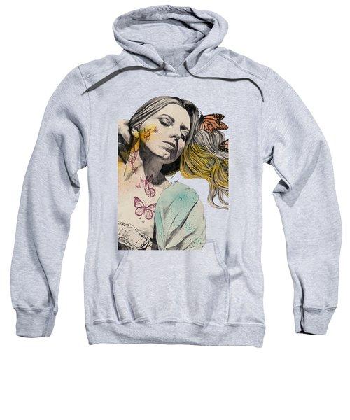 Beautiful Ruin - Sexy Butterfly Girl In Lingerie Sweatshirt