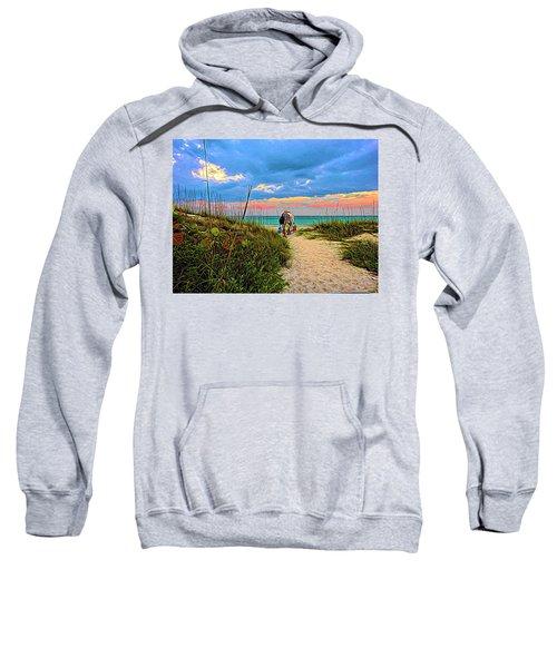 Beginning Of A Fishing Story Sweatshirt