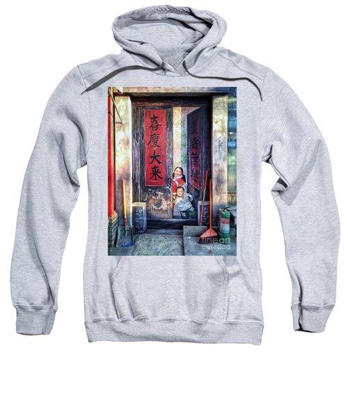 Beijing Hutong Wall Art Sweatshirt