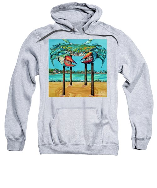 Big Blue Crab Rockport Sweatshirt