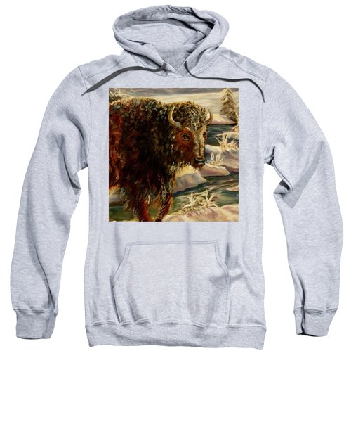 Bison In The Depths Of Winter In Yellowstone National Park Sweatshirt