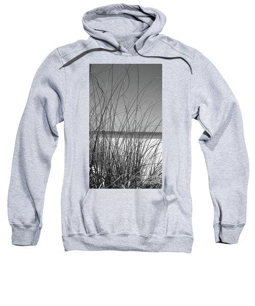 Black And White Beach View Sweatshirt