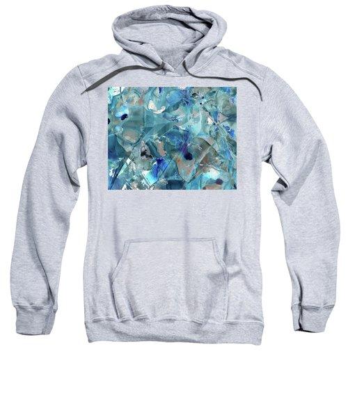 Blue Abstract Art - Ice Castles - Sharon Cummings Sweatshirt