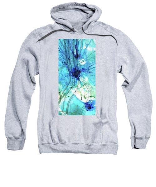 Blue Abstract Art - Just Ice - Sharon Cummings Sweatshirt