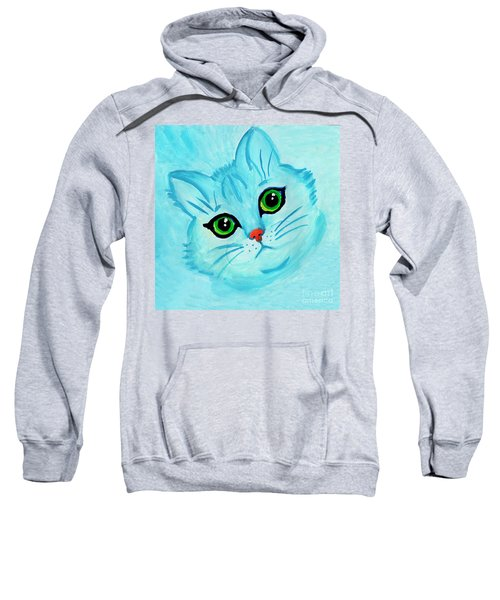 Blue Cat Sweatshirt