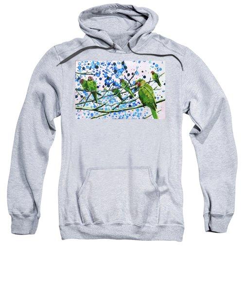 Blue Dot Parakeets Sweatshirt