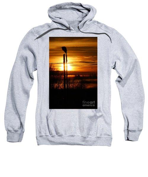 Blue Heron Sunrise 2 Sweatshirt