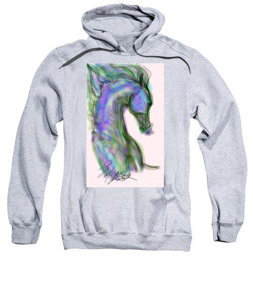 Blue Horse Painting Sweatshirt