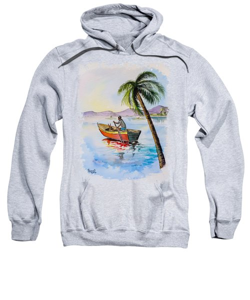 Boat And Palm Sweatshirt