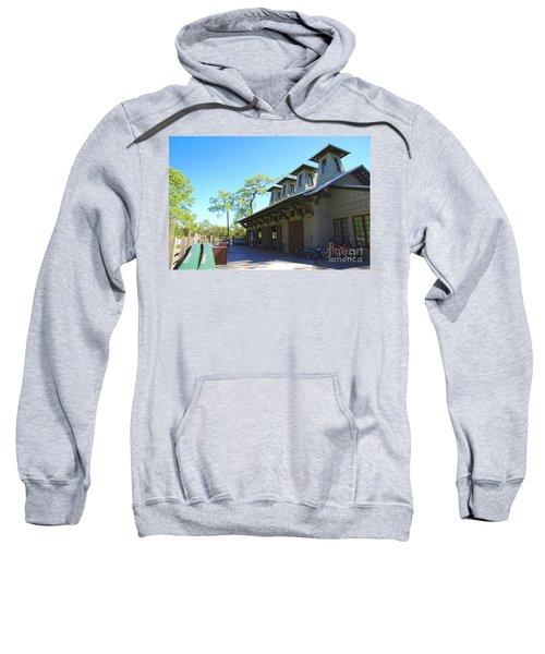 Boathouse In Watercolor Sweatshirt