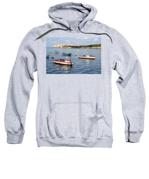 Boats In The Harbor Havana Cuba 112605 Sweatshirt
