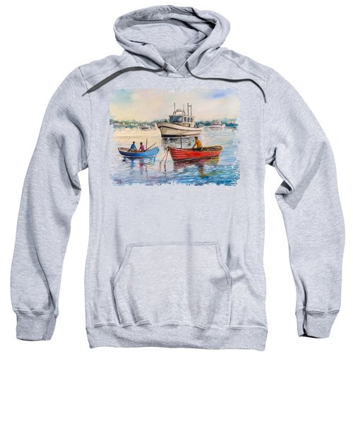 Boats On A Lake Sweatshirt
