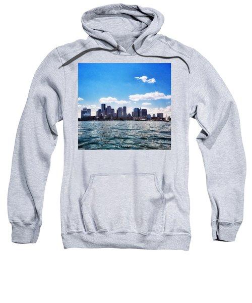 Boston Skyline From Boston Harbor  Sweatshirt