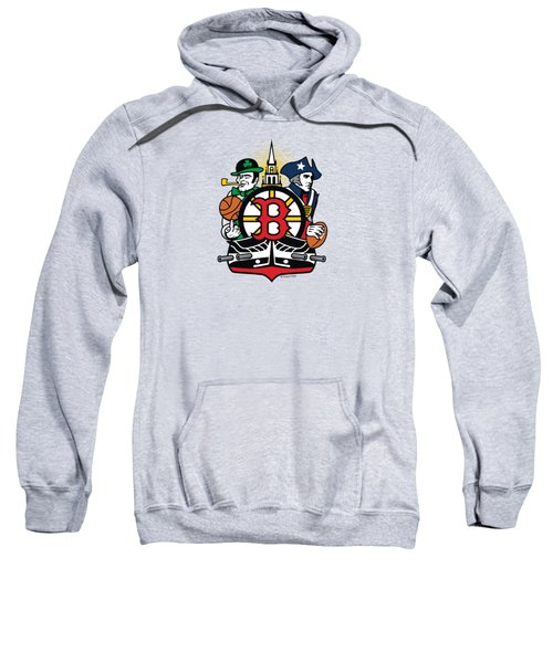 Boston Sports Fan Crest Sweatshirt
