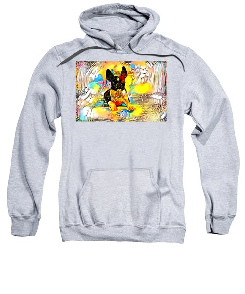 Boston Terrier Dog With Bright Colors Sweatshirt