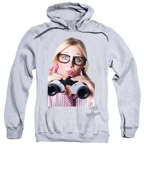 Brainy Businesswoman Looking To Future Development Sweatshirt