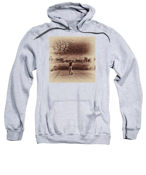 Broken Glass Sky Sepia Sweatshirt