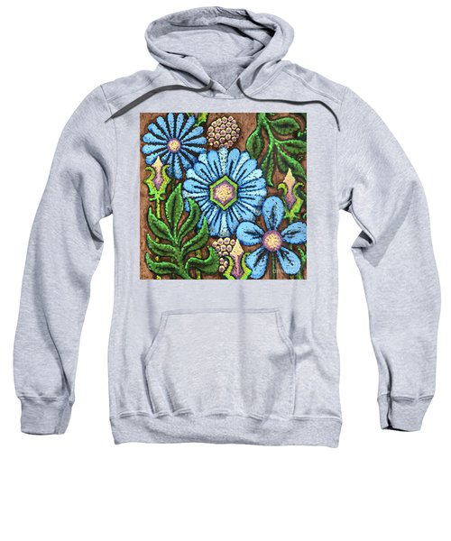 Brown And Blue Floral 1 Sweatshirt