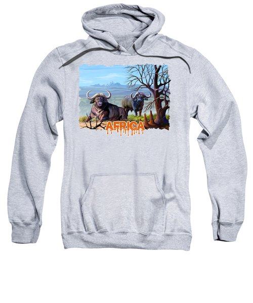 Buffaloes And The Mountain Sweatshirt